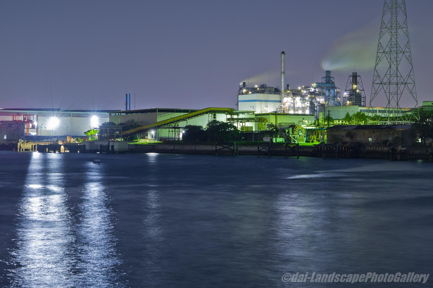 田辺運河夜景