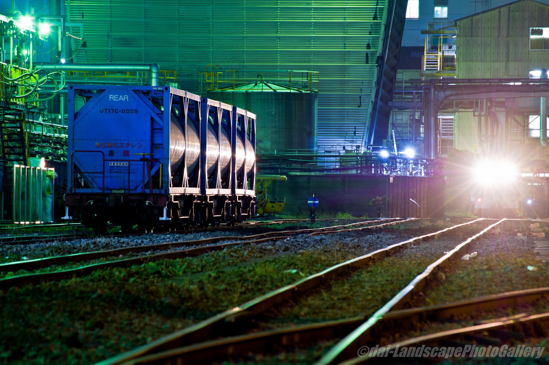 神奈川臨海鉄道 千鳥線貨物列車風景