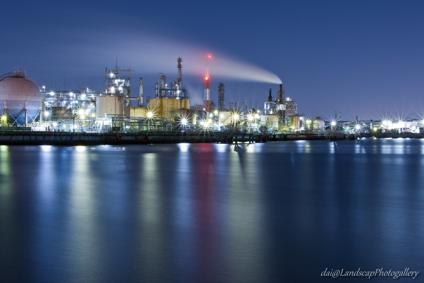 千鳥運河工場夜景
