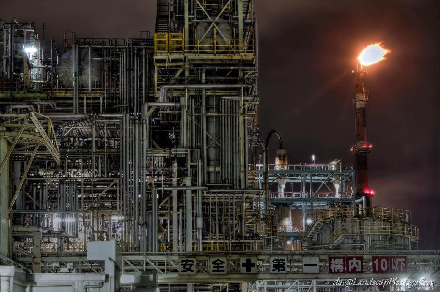 京浜工業地帯工場夜景【HDRi】