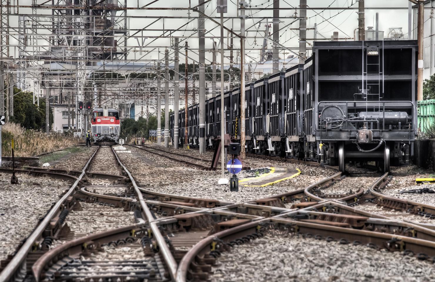 扇町駅石炭列車到着風景【HDRi】
