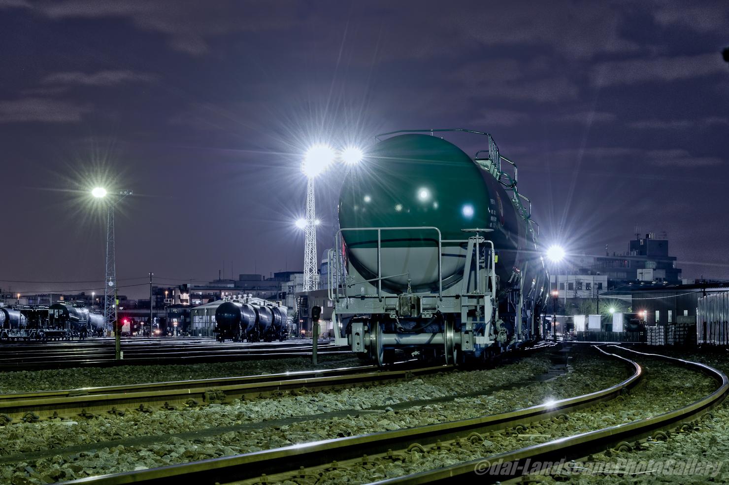 川崎車両所夜景【HDRi】