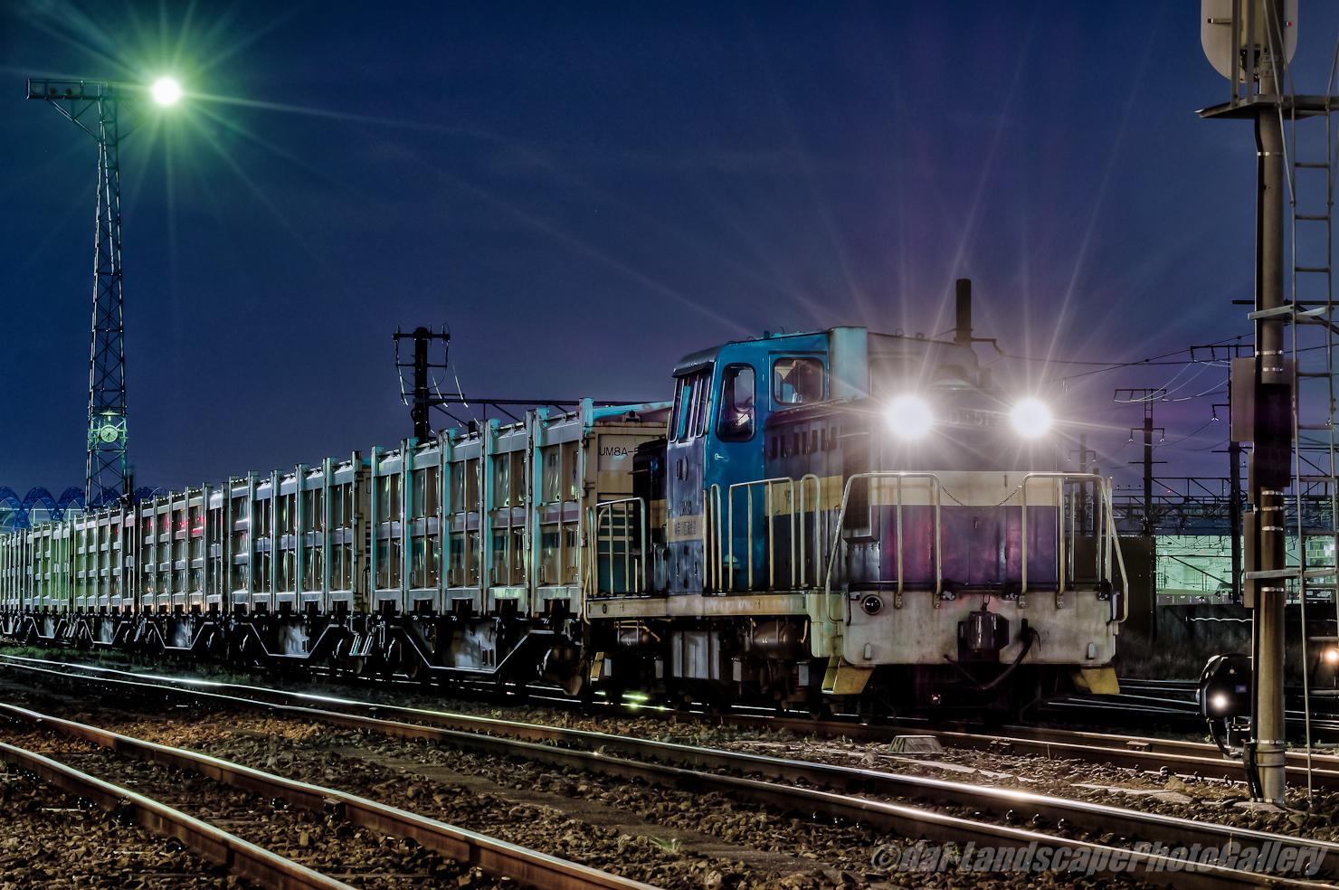 神奈川臨海鉄道川崎貨物駅夜景【HDRi】