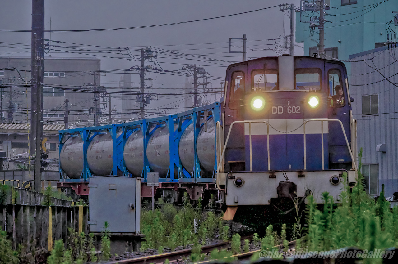 神奈川臨海鉄道千鳥線の貨物列車【HDRi】