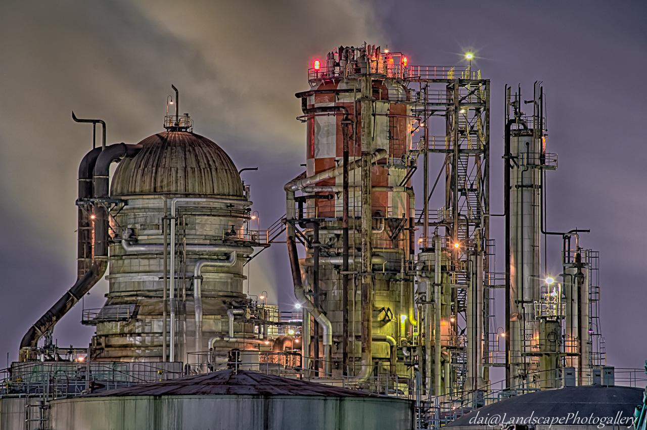 石油コンビナート夜景【HDRi】