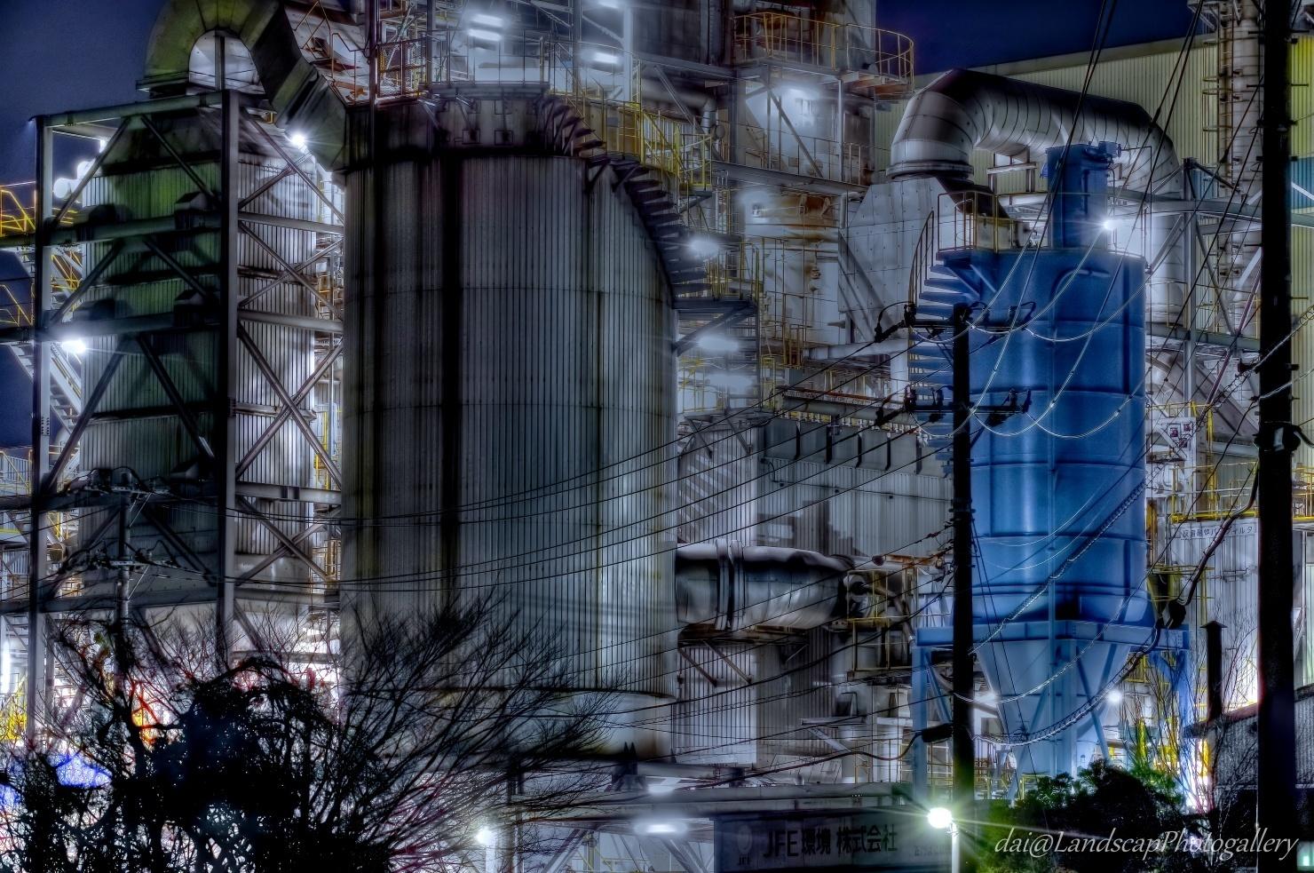 川崎扇町工場夜景【HDRi】