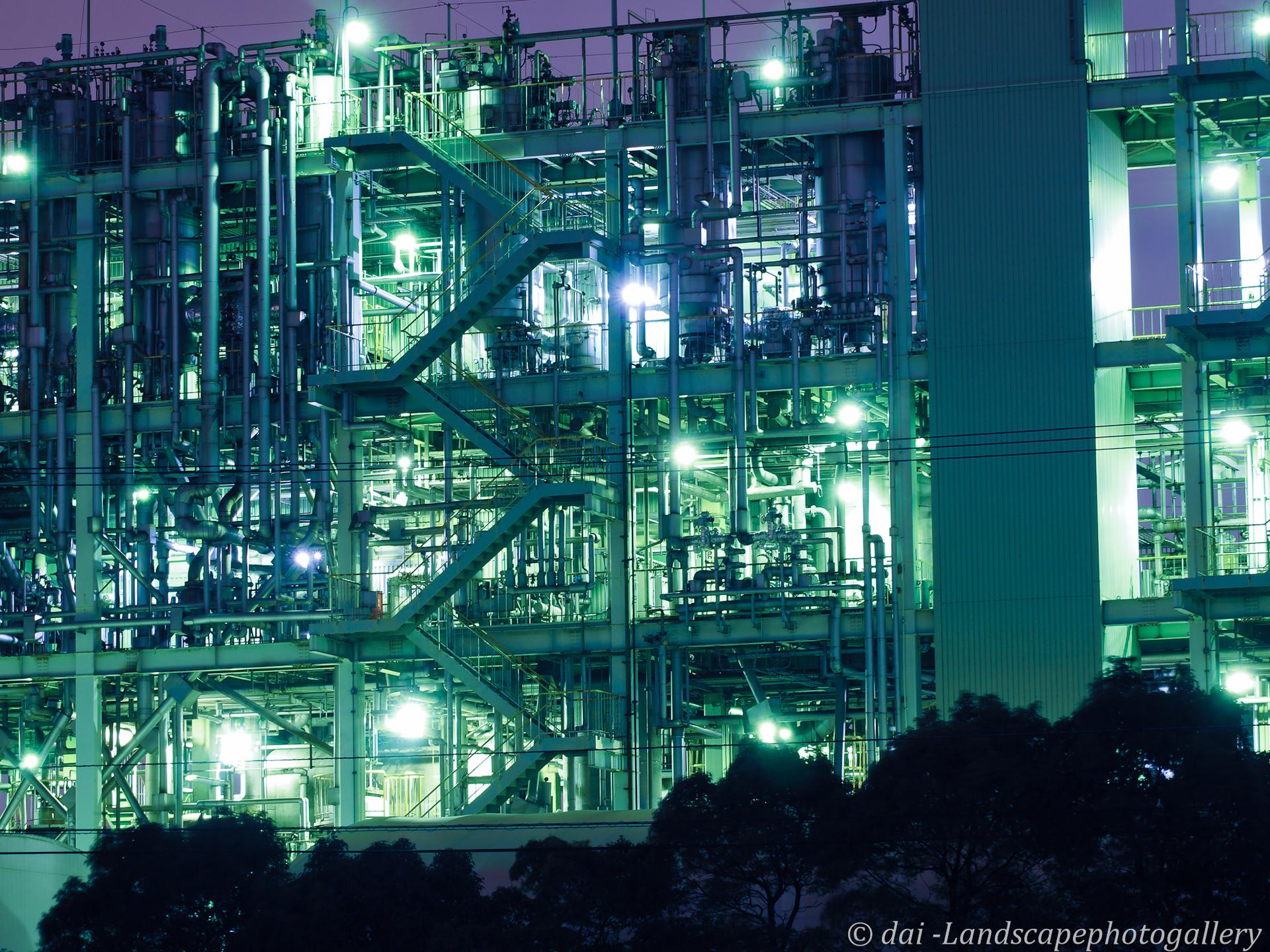 扇町工場夜景