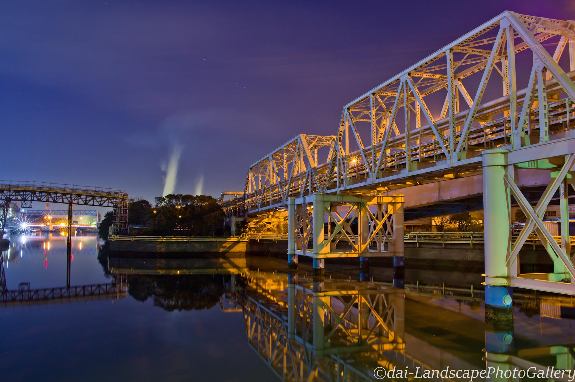 扇橋工場夜景