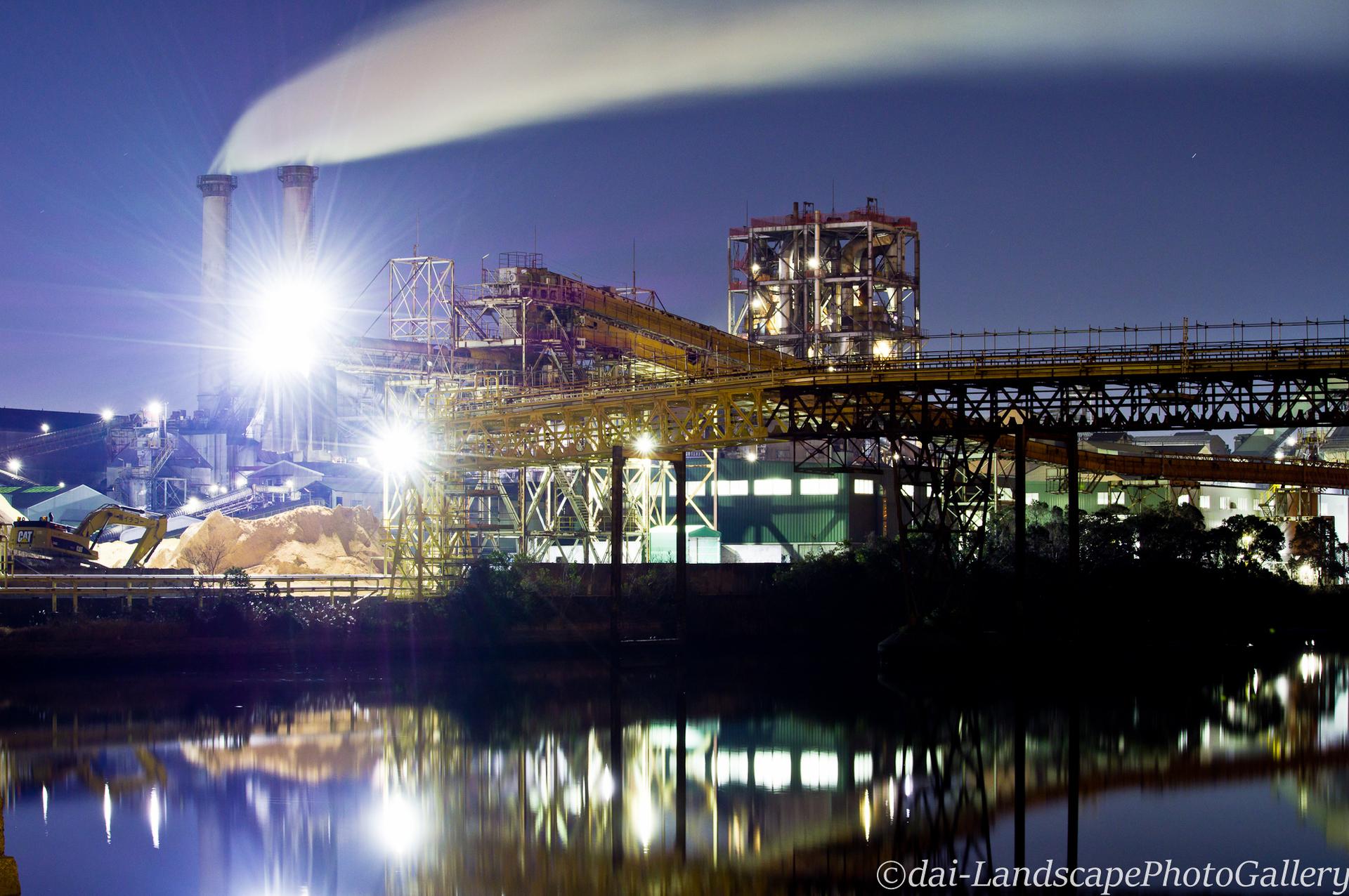 浅野運河工場夜景