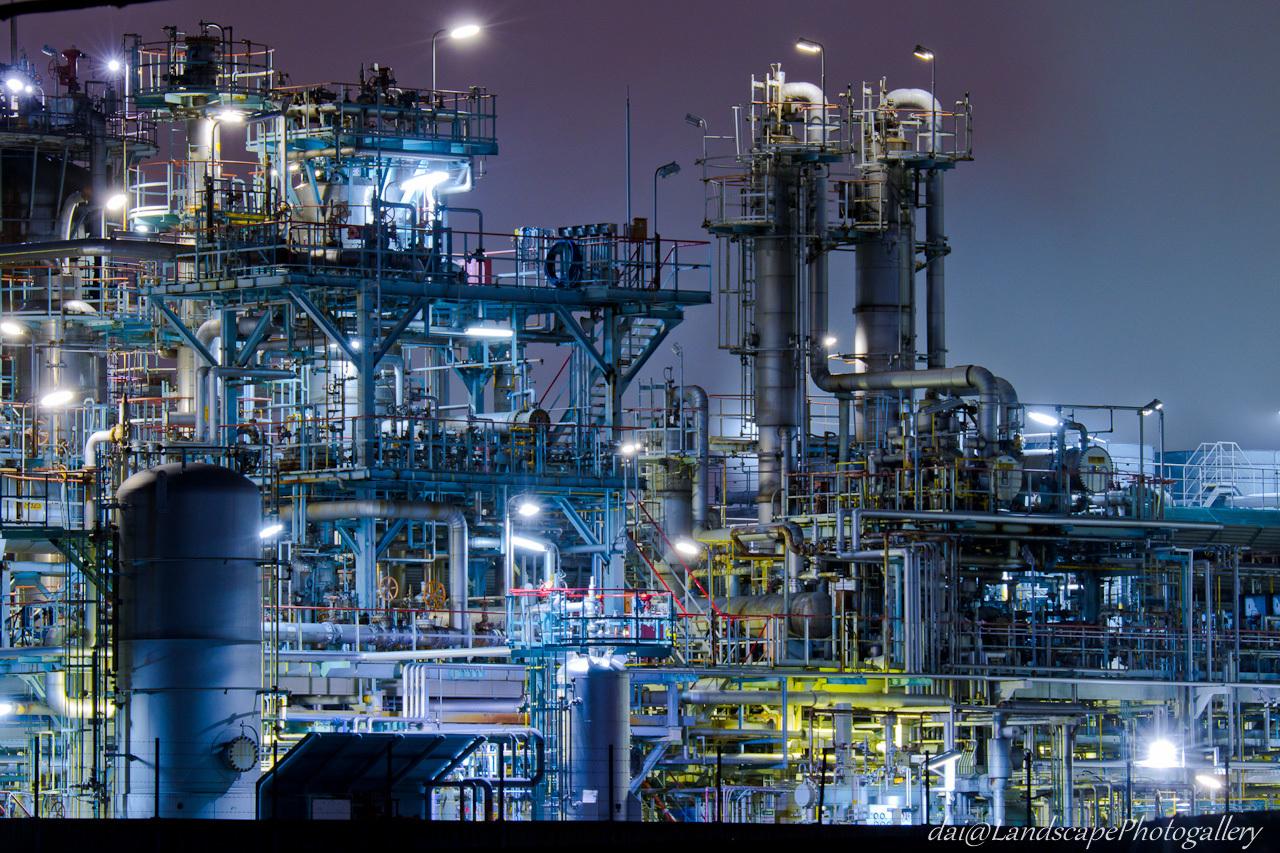京浜工業地帯 工場夜景