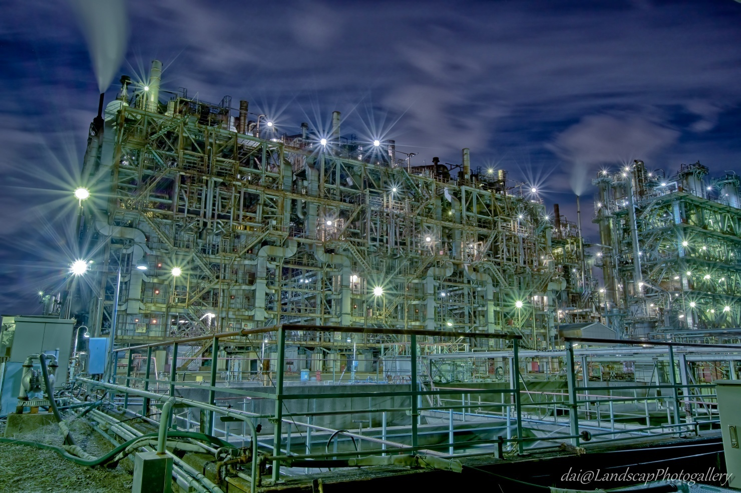 川崎浮島町工場夜景【HDRi】