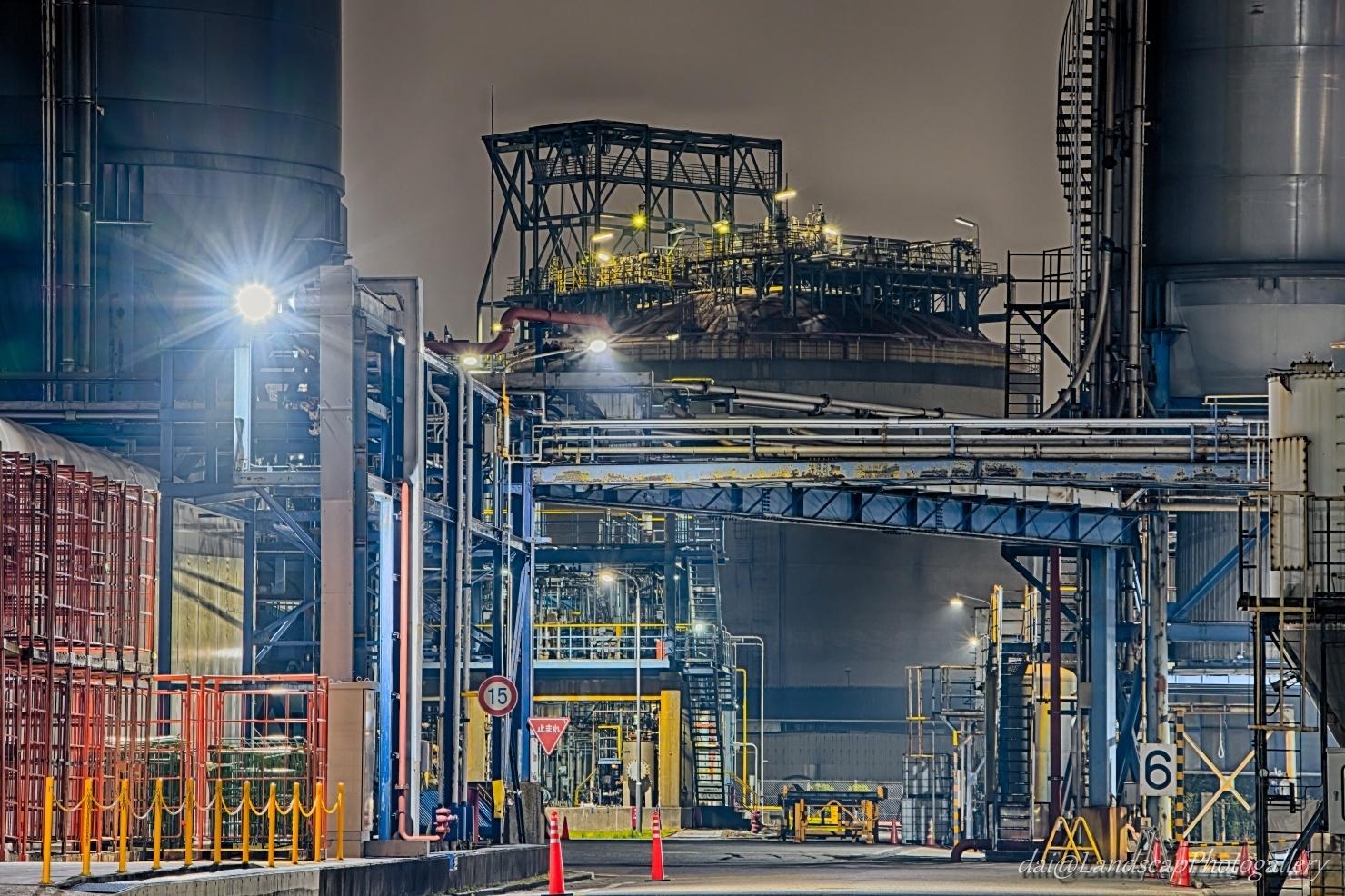 京浜工業地帯 工場夜景【HDRi】