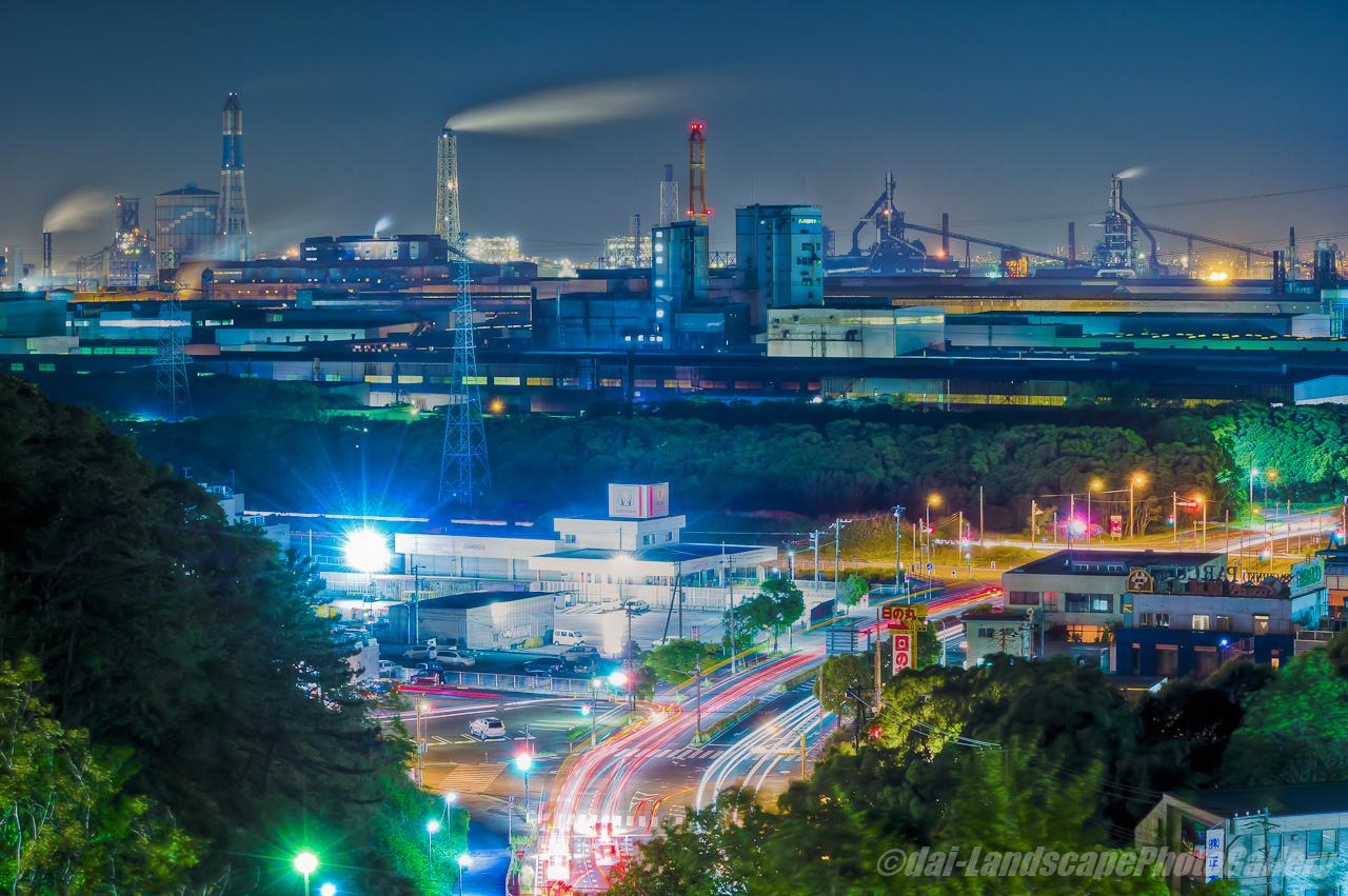 大和田陸橋工場夜景【HDRi】