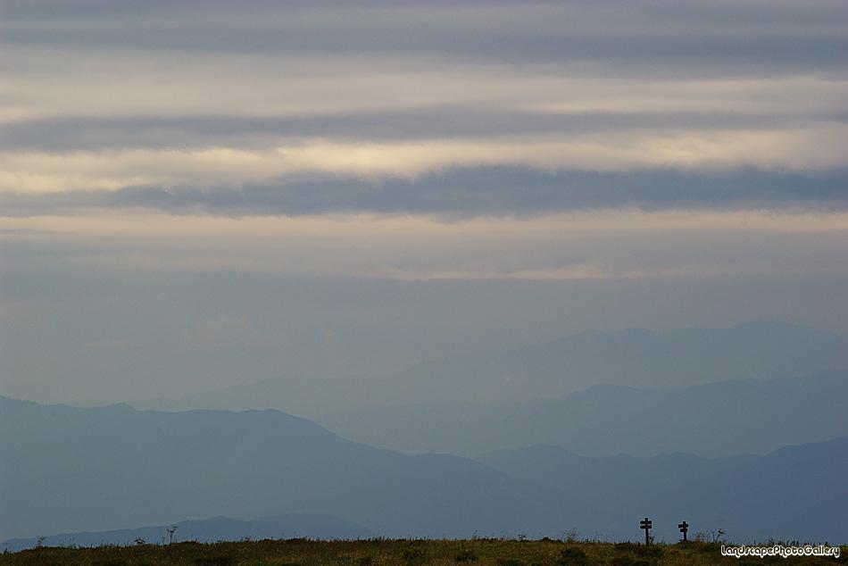 曇り空の霧ヶ峰
