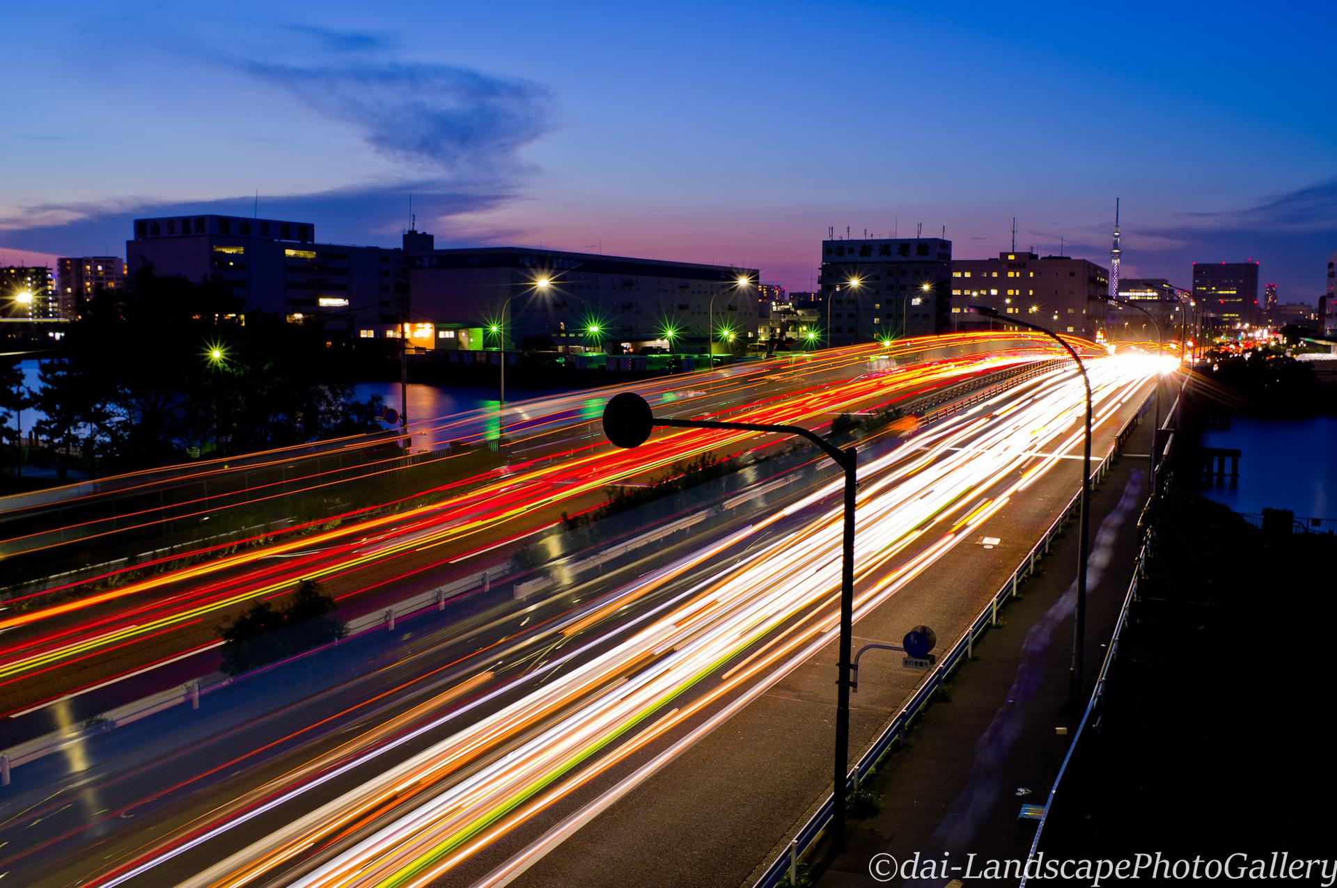 夢の島大橋 夕夜景