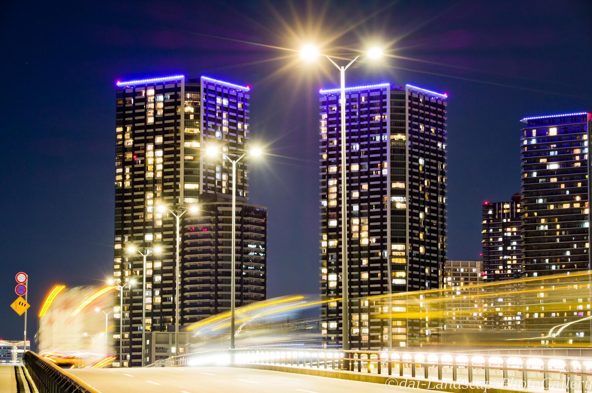 豊洲大橋夜景