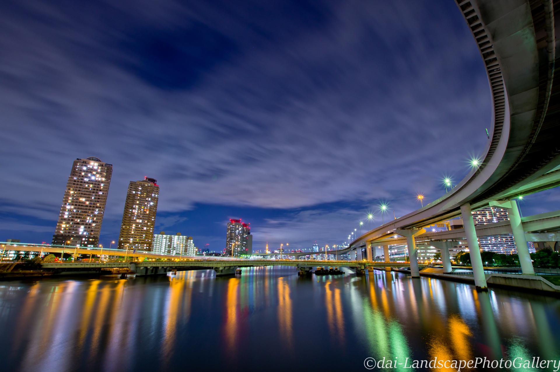 有明西運河夜景