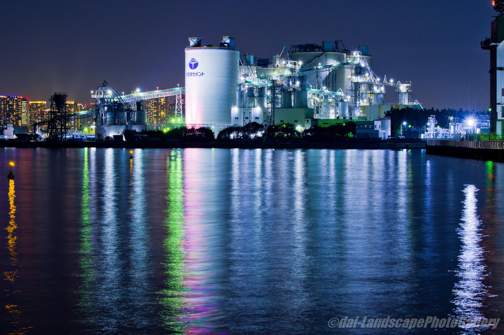 太平洋セメント東京サービスステーション夜景