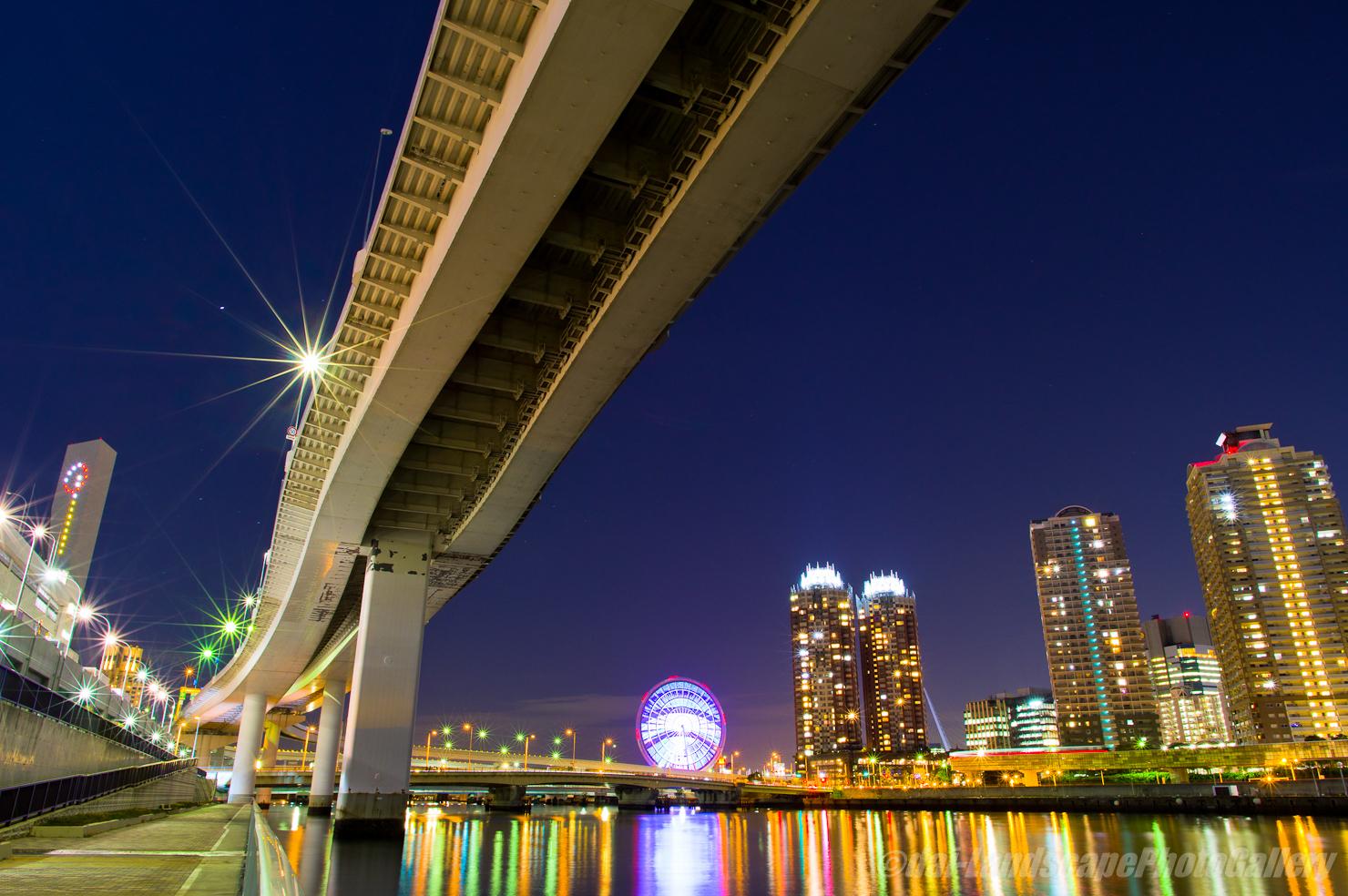有明西運河沿いの夜景