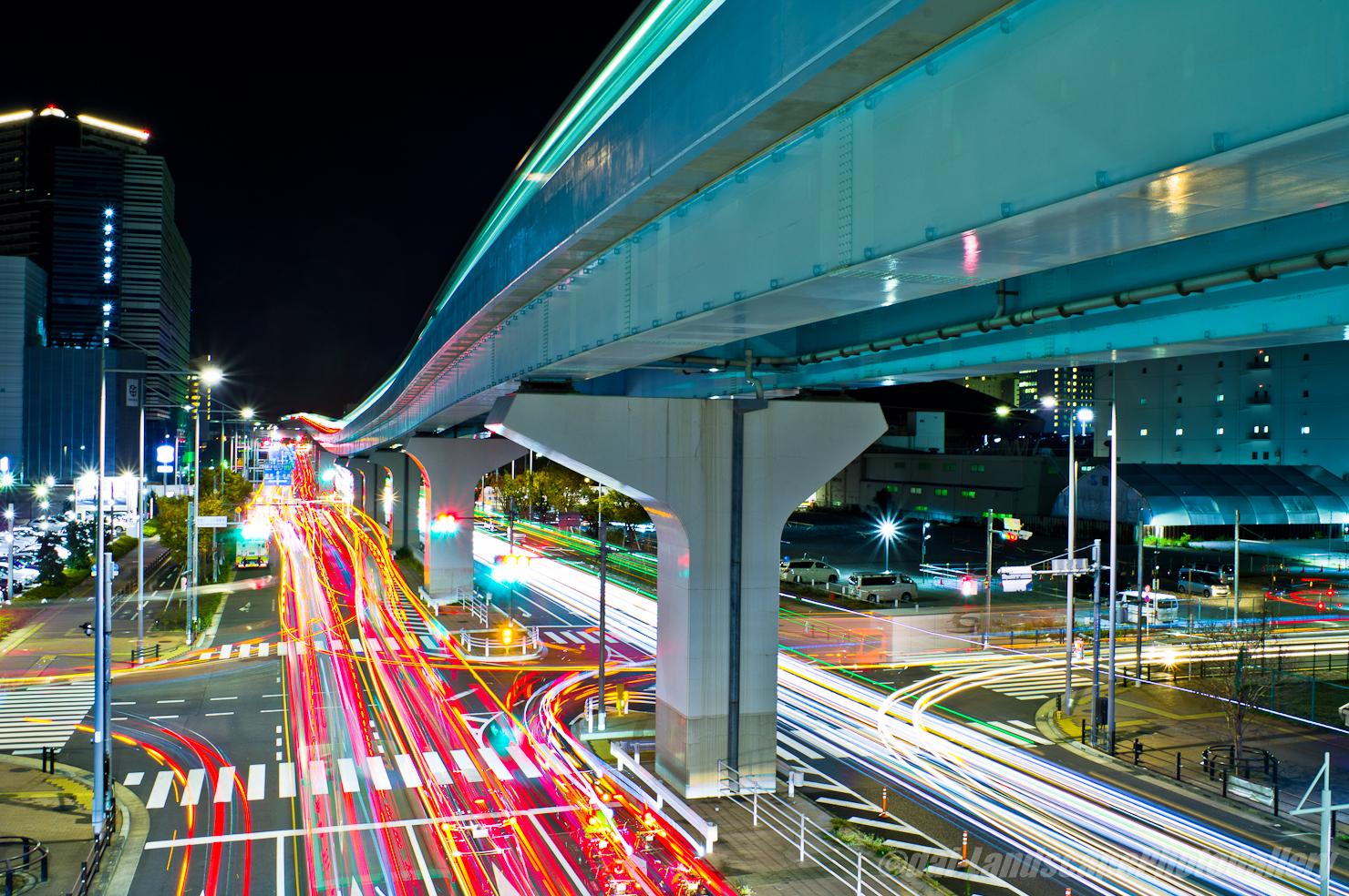 有明テニスの森駅橋上夜景