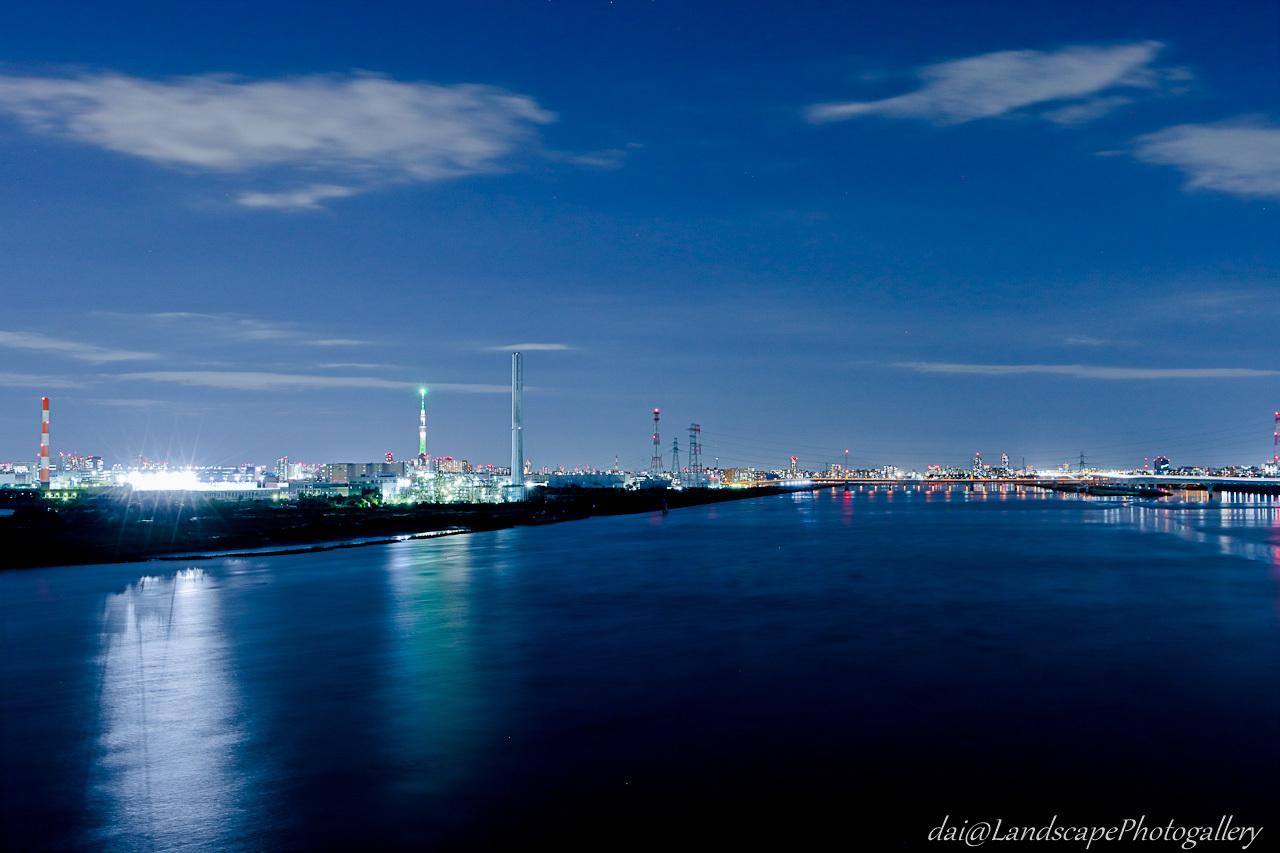 荒川河口の夜景