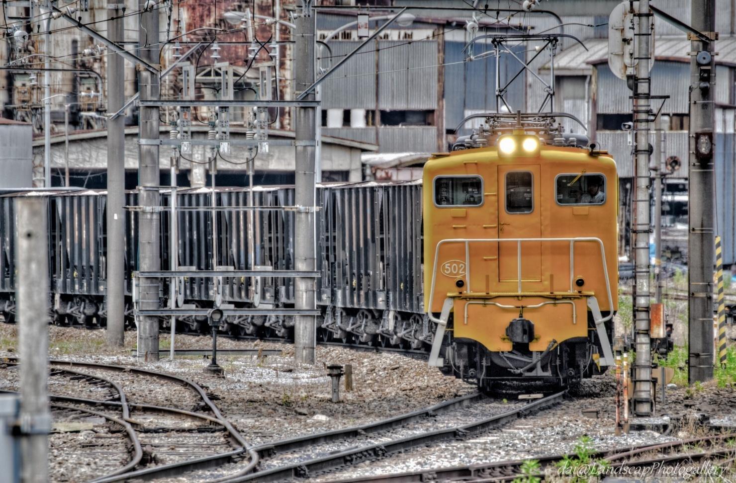 秩父鉄道鉱石列車出発風景【HDRi】