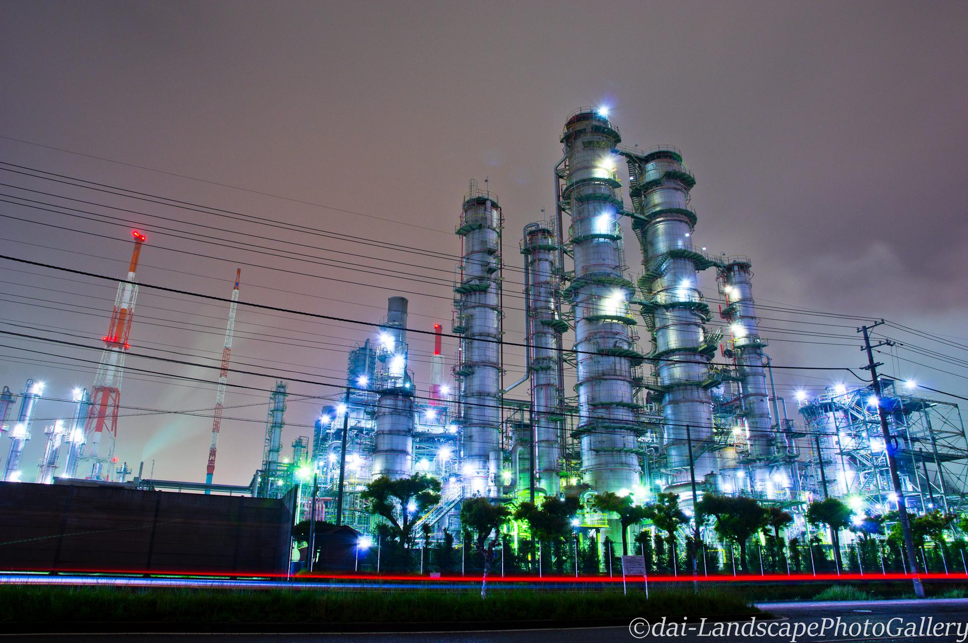 水島臨海工業地帯 工場夜景