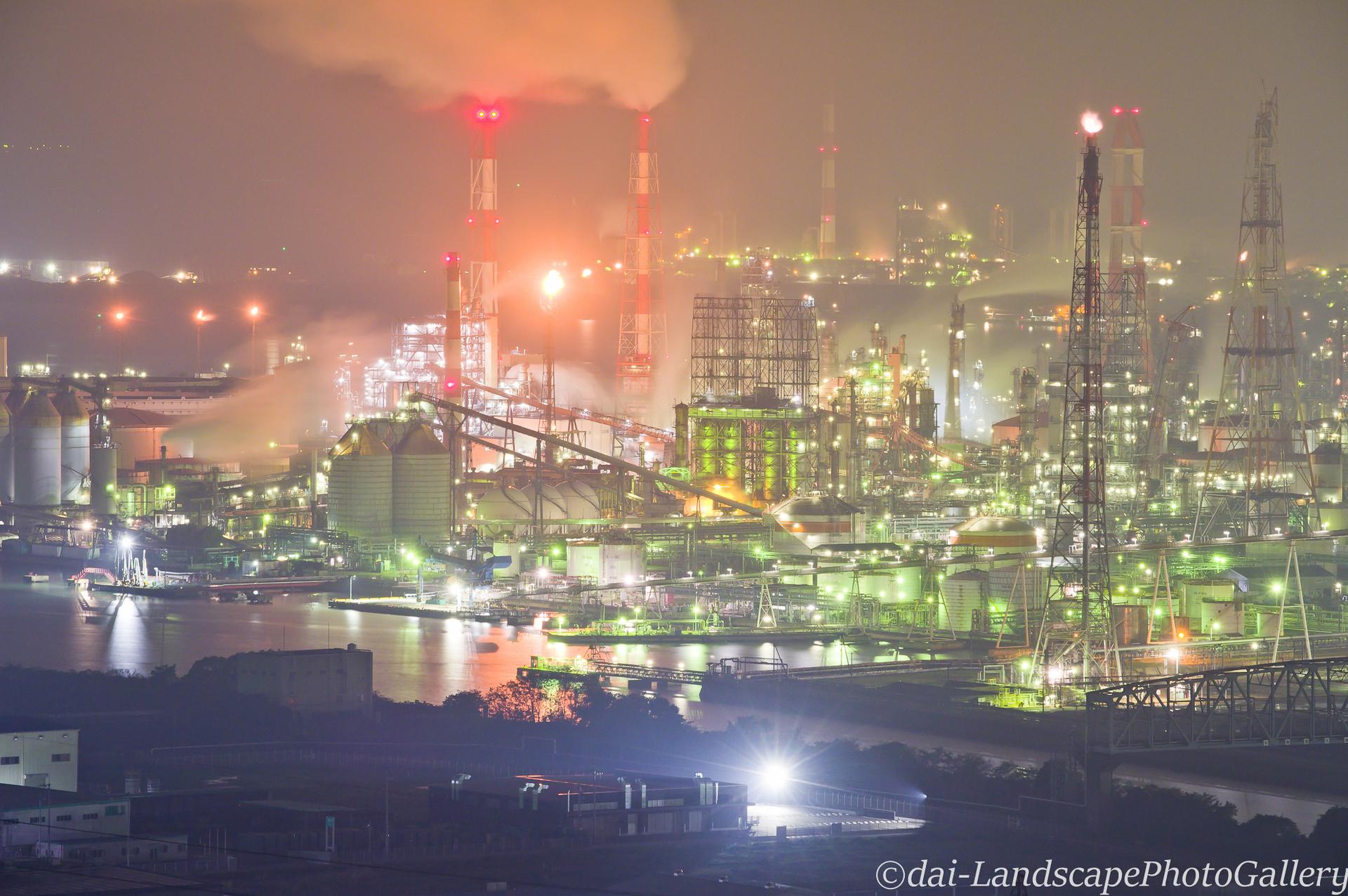 水島臨海工業地帯夜景