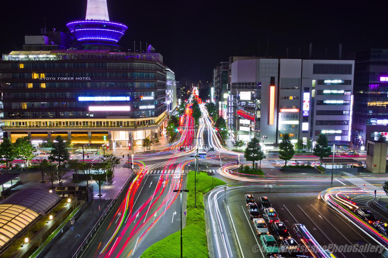 京都駅前夜景