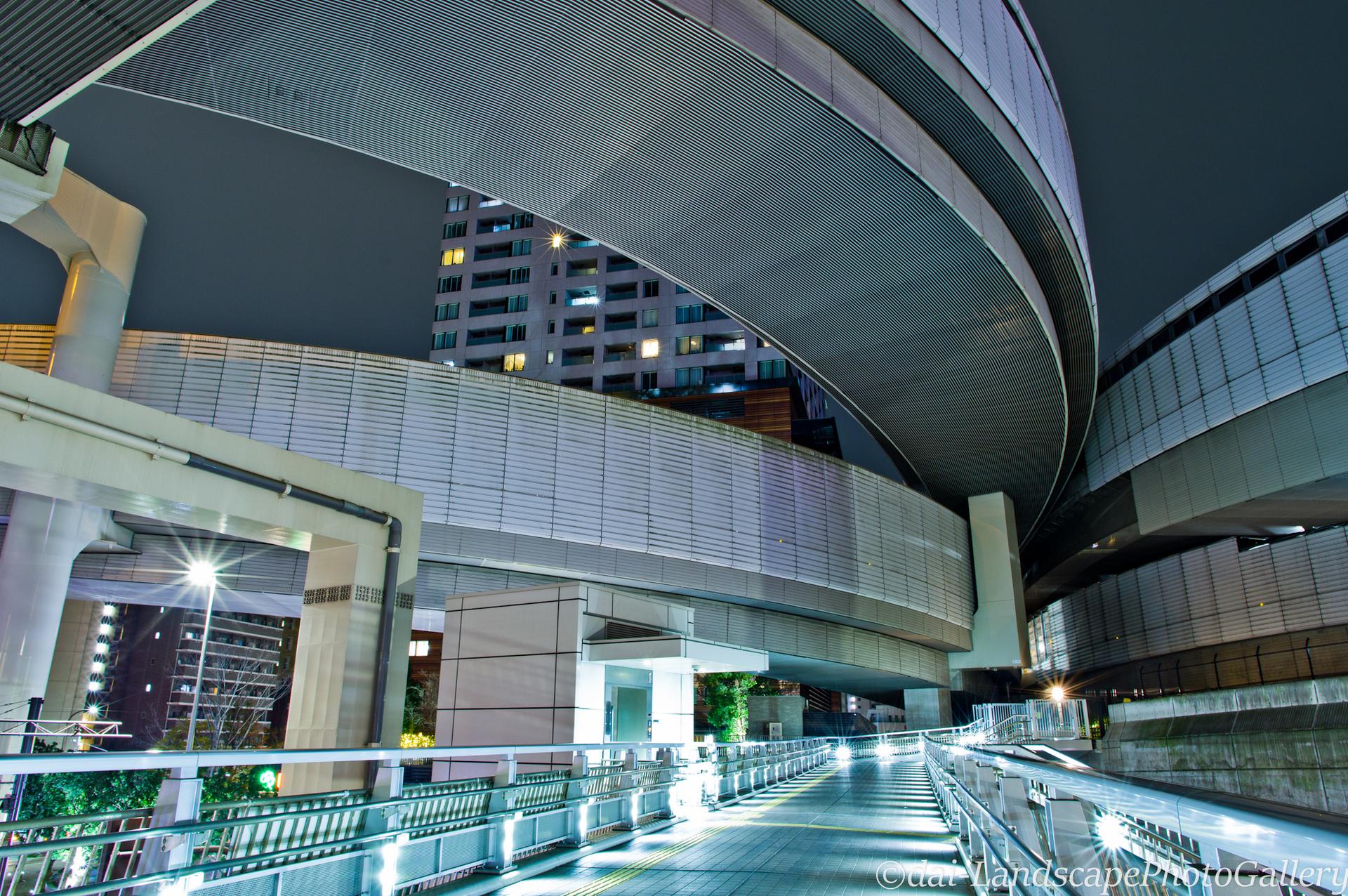 大橋ジャンクション夜景