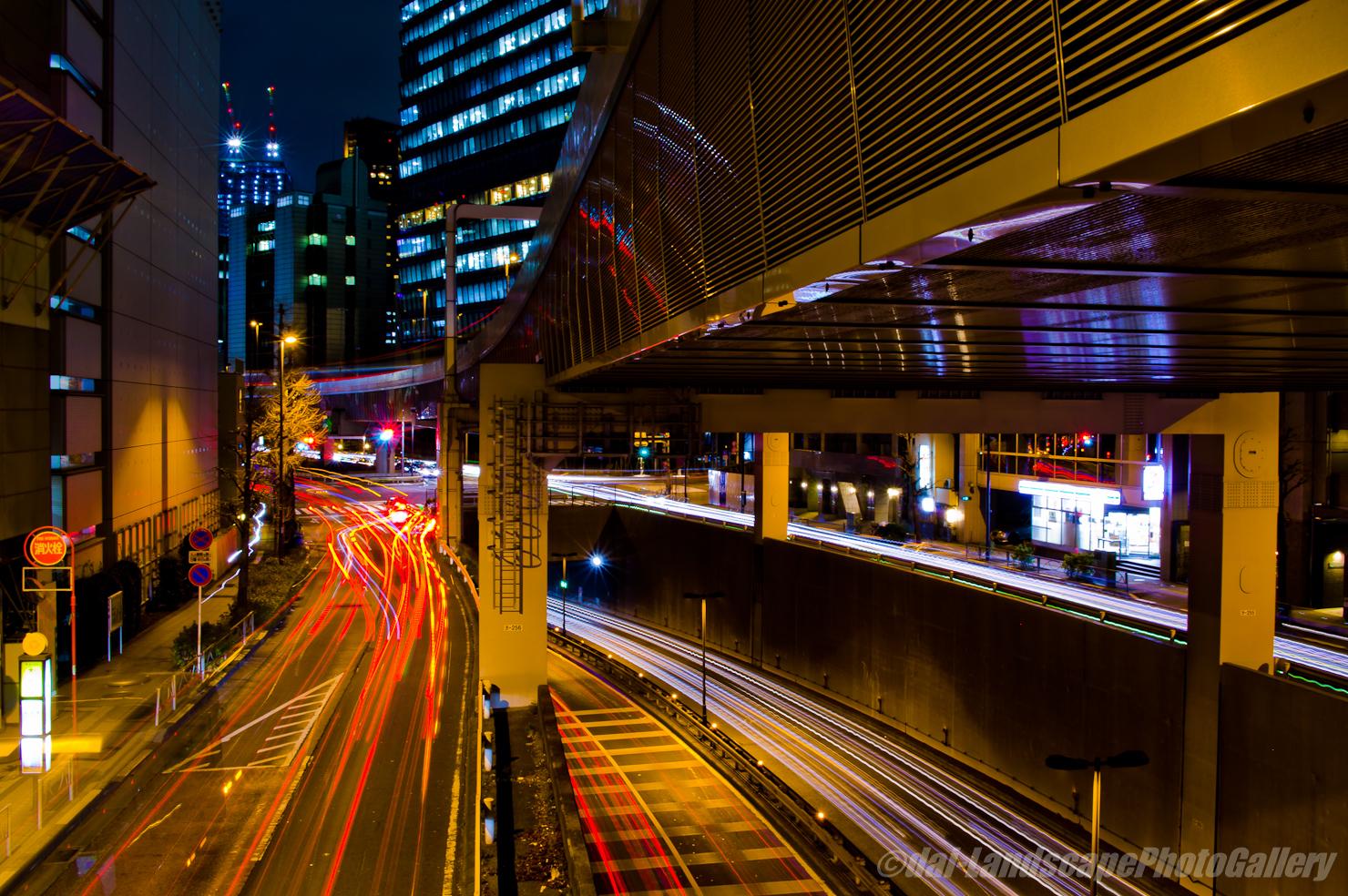 玉川通り夜景