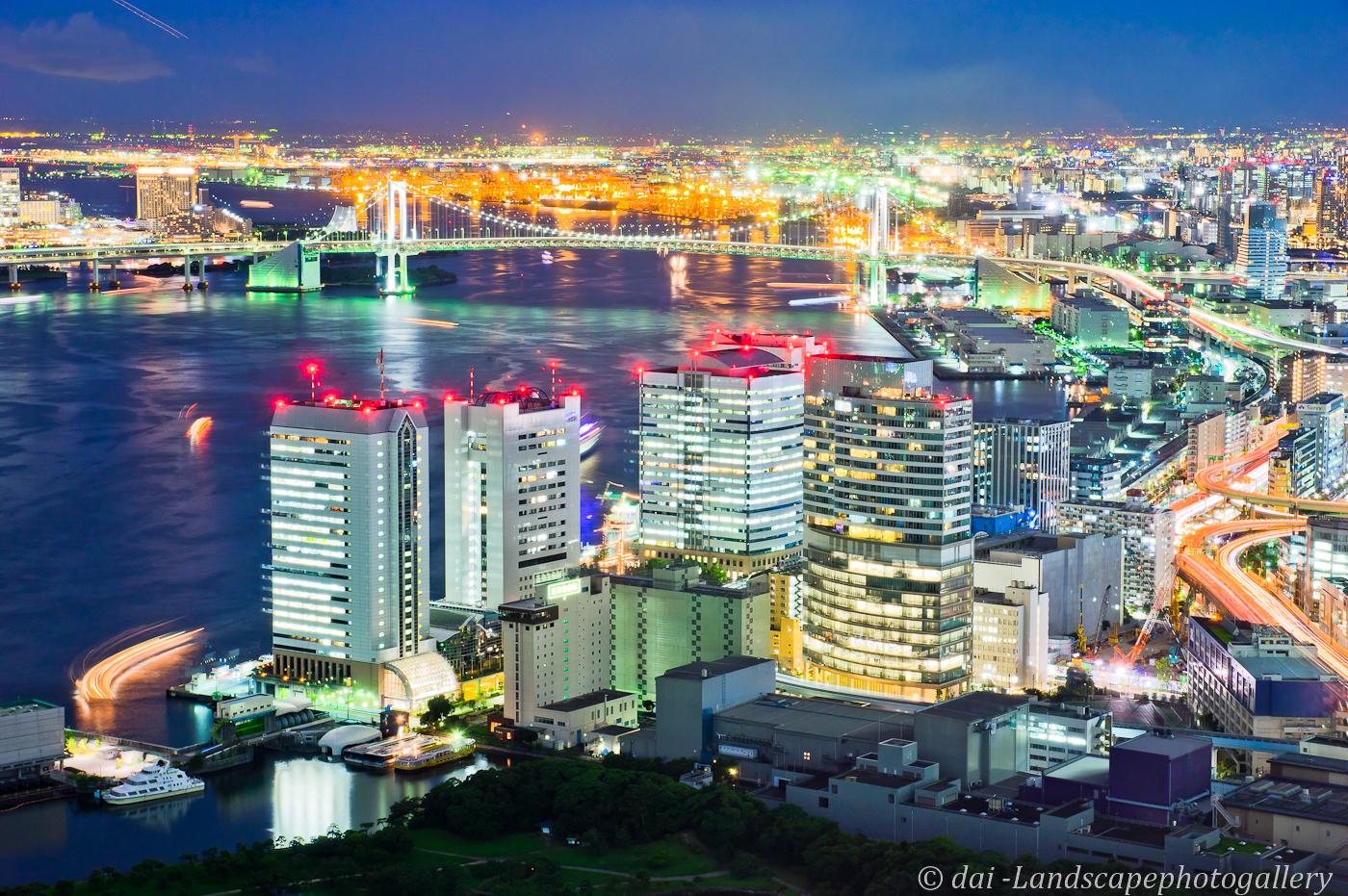 東京港夜景~カレッタ汐留にて~