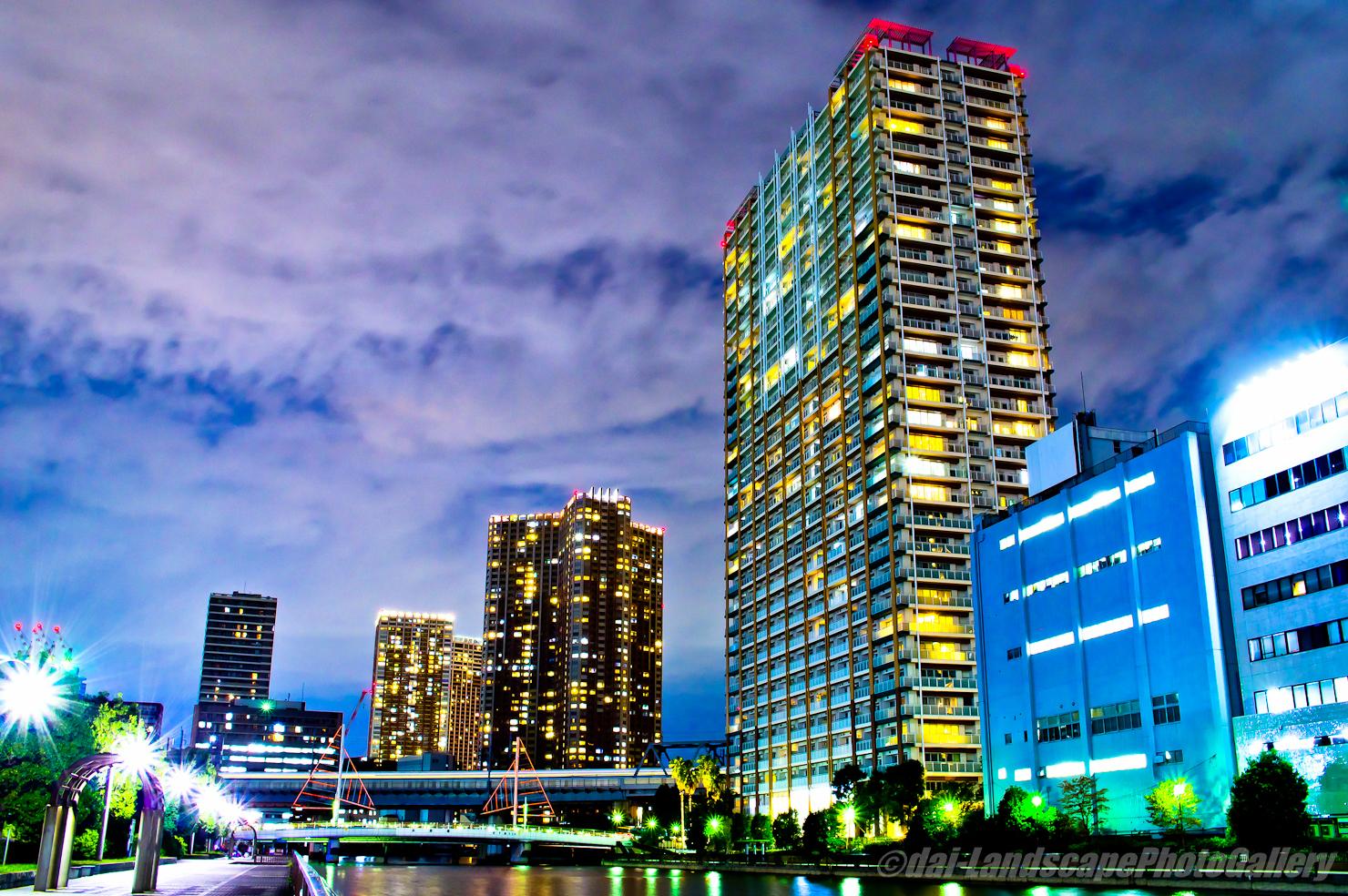 高浜運河沿いの夜景