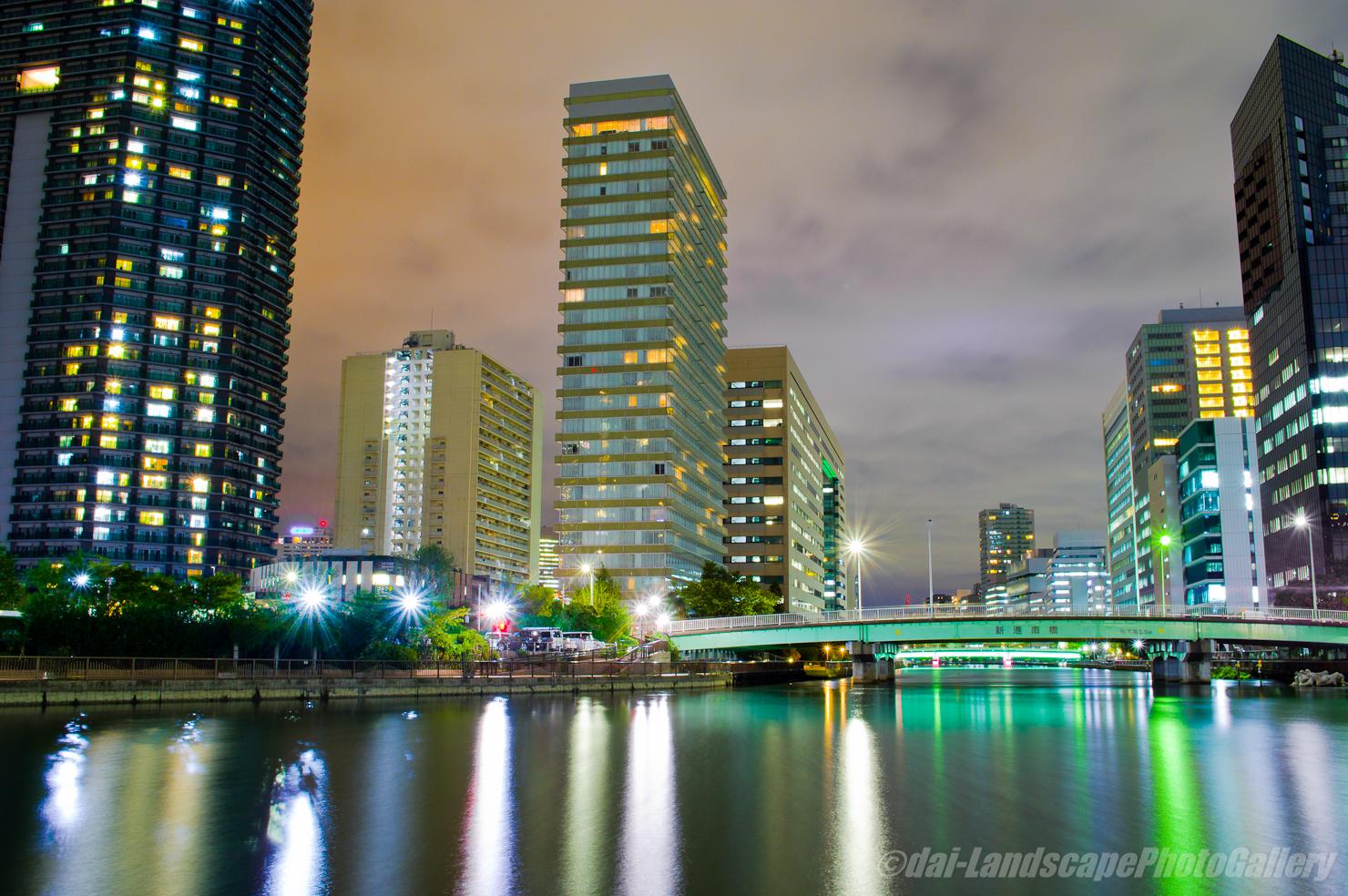 高浜運河夜景