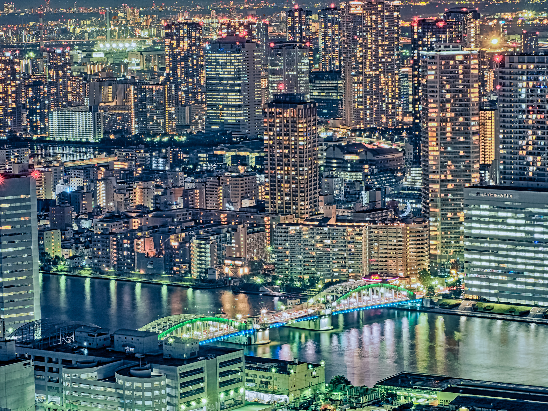 勝鬨橋俯瞰夜景【HDRi】