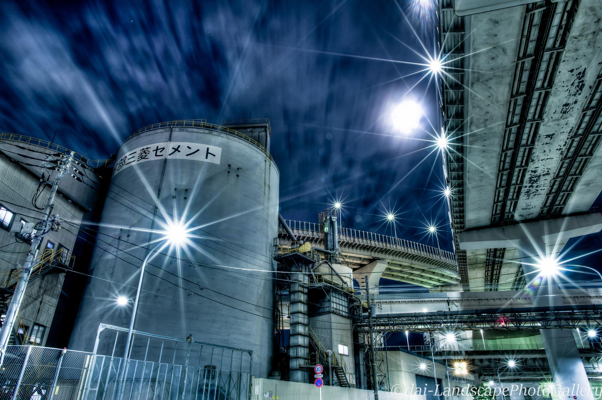 箱崎ジャンクション高架下夜景【HDRi】