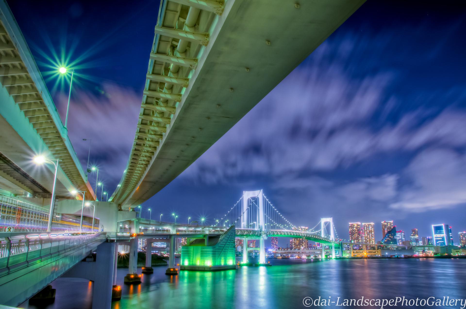 夜のレインボーブリッジ【HDRi】