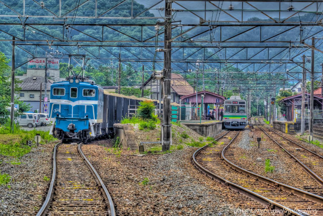 秩父鉄道長瀞駅 貨物列車のいる風景【HDRi】