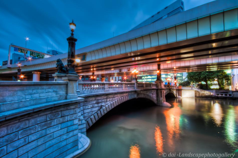 日本橋川夜景【HDRi】