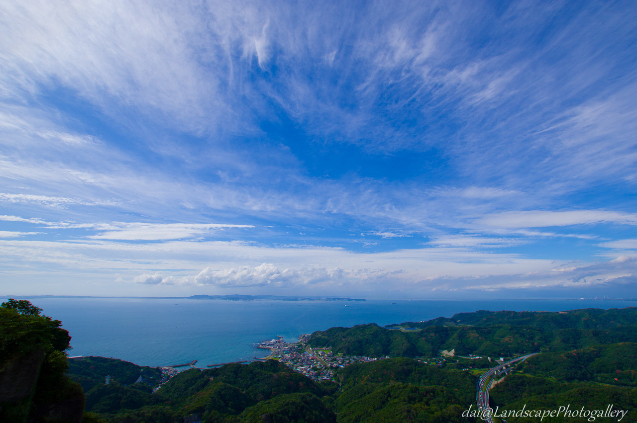 鋸山山頂展望台からの風景