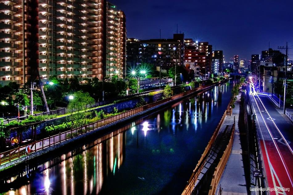 小名木川夜景【HDRi】