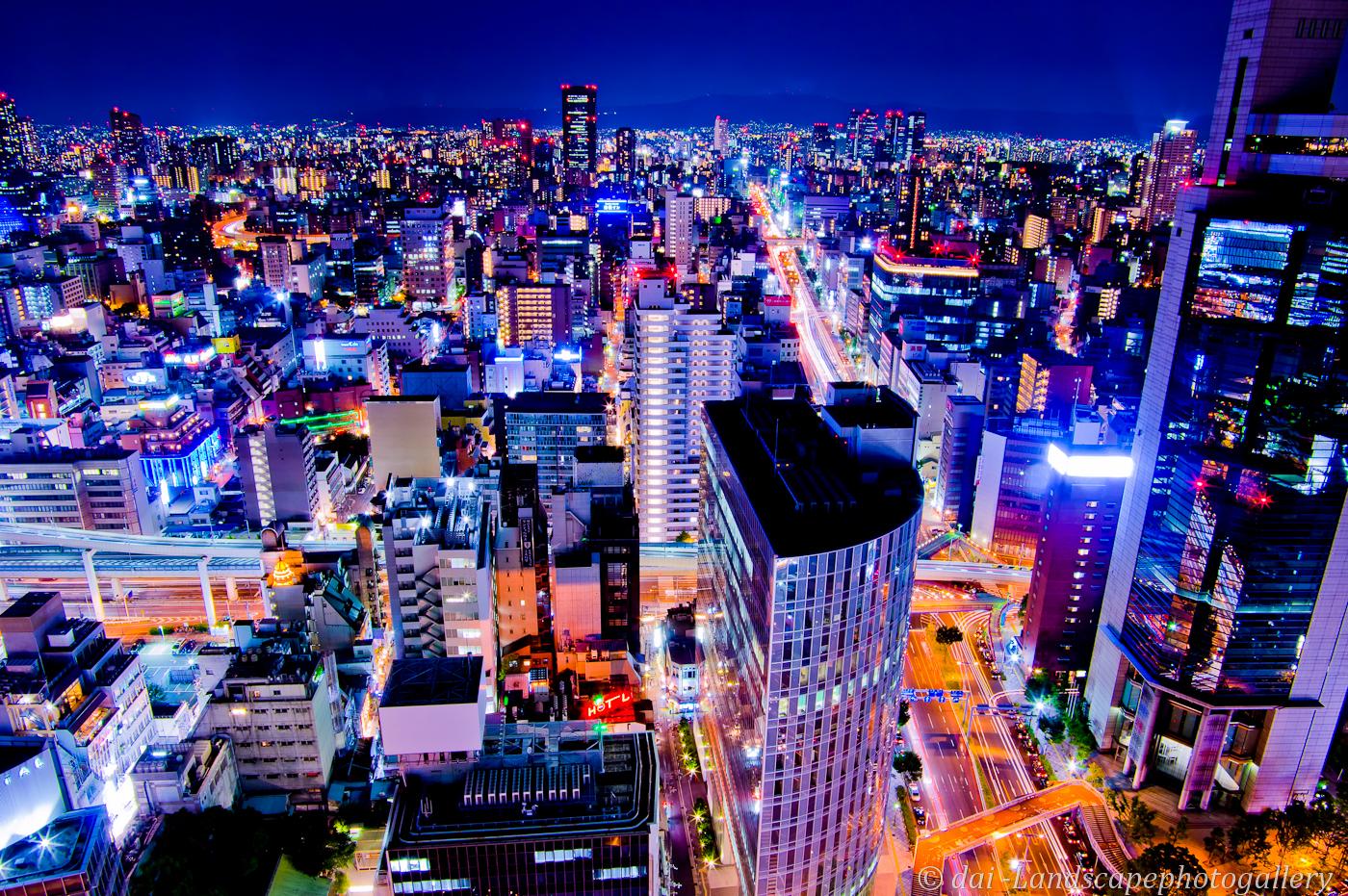 大阪夜景~大阪駅前第3ビルにて~