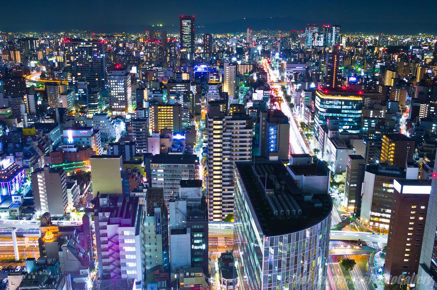 大阪駅前第3ビル夜景
