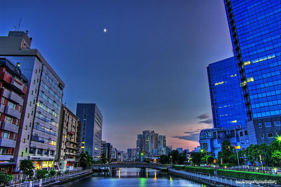 芝浦運河夕景【HDRi】