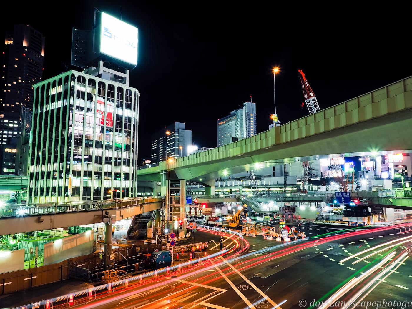 東京夜景~渋谷駅前交差点~