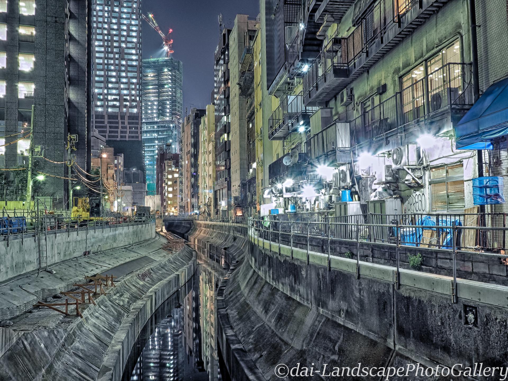 夜の渋谷川【HDRi】
