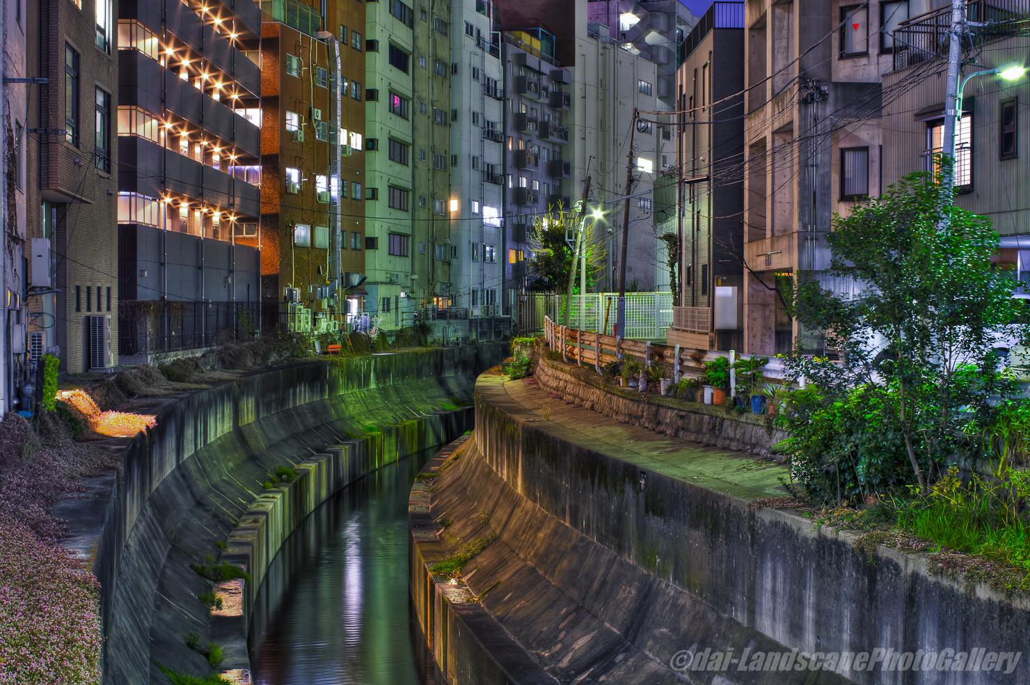 渋谷川夜景【HDRi】