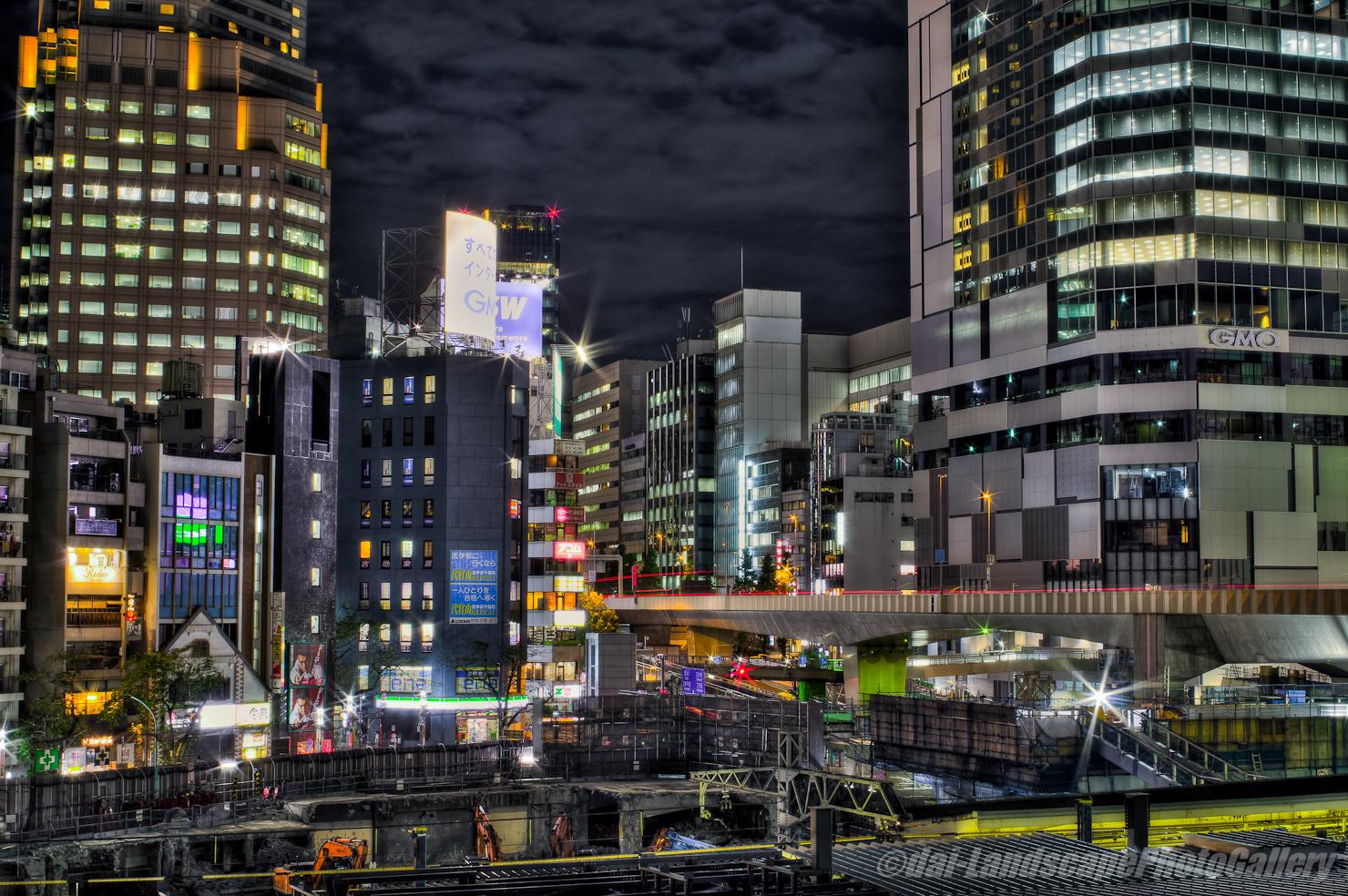 渋谷駅 夜の工事現場【HDRi】