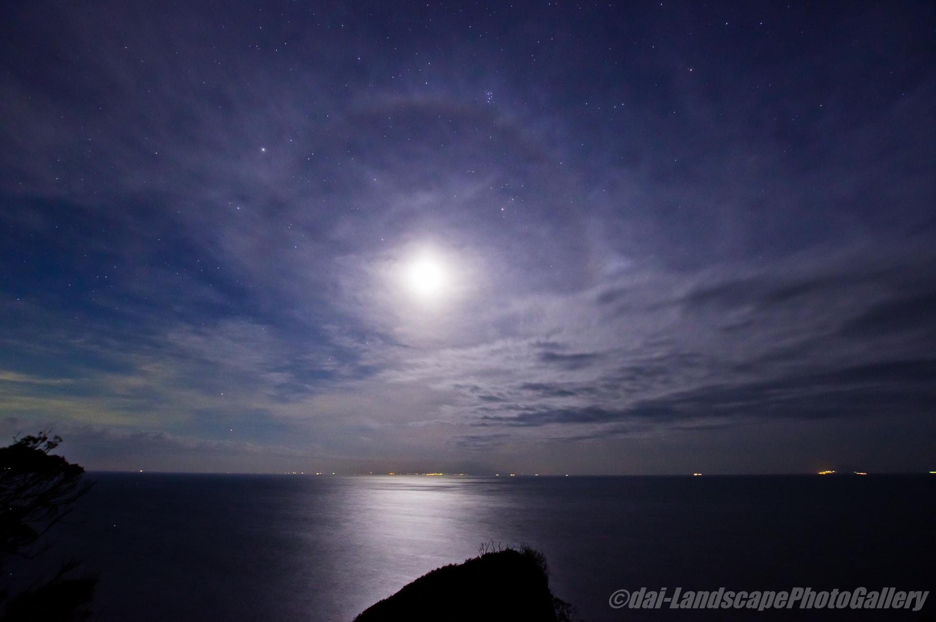 月夜の伊豆にて