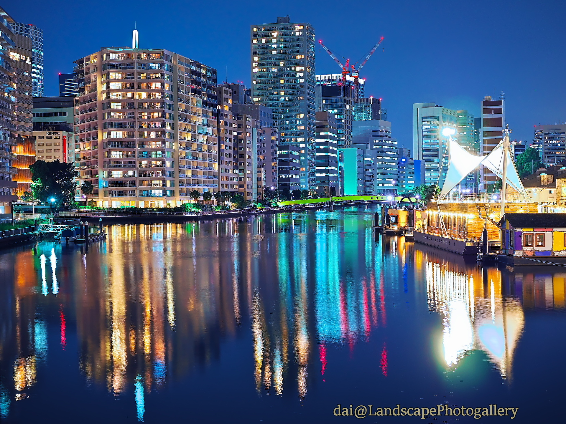 竹芝桟橋の夜景